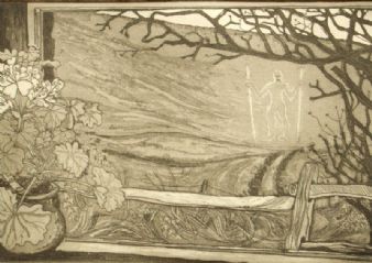 Pat Savage; Wilmington, Sussex etching